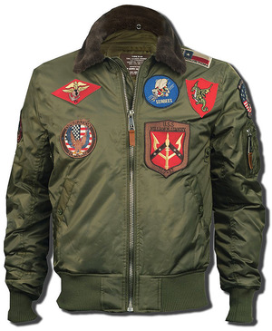 Бомбер Top Gun Official B-15 with Patches (оливковий)